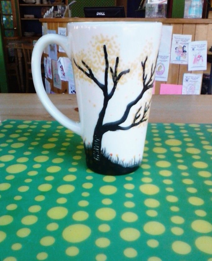 Latte Mug #ceramics #colormemine #fall #halloween