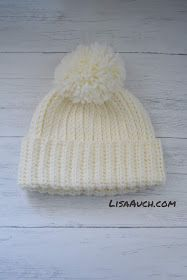 Looks like Knit But its Crochet Warm Cosy Winter Hat (FREE Pattern) #crochethatpatterns