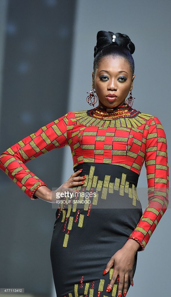 A Model Presents A Creation By Ivory Coast S Designer Eloi Sessou During The 10th Afrik Fashion Show In Abidjan On June Fashion Africa Fashion Fashion Show
