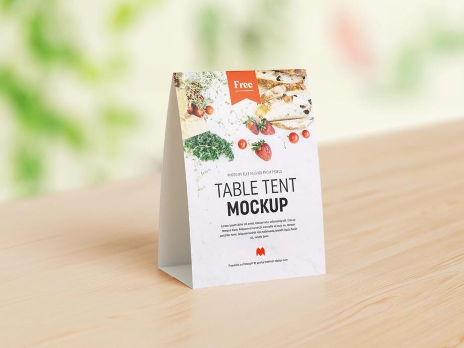 Free Table Tent Mockup Psd Template In 2021 Menu Mockup Psd Templates Psd Template Free