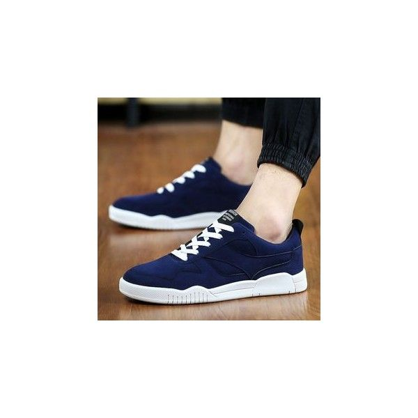 Contrast Color Sneakers ($40) ❤ liked on Polyvore featuring shoes, sneakers, footware, kohl shoes, black trainers, black shoes, nubuck sneakers and nubuck shoes