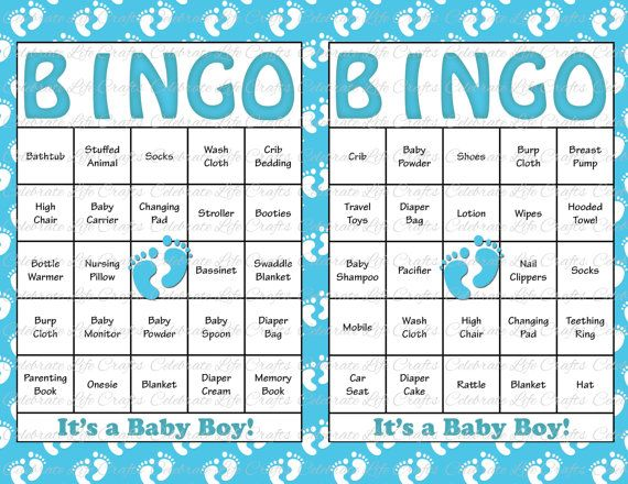 60 Baby Feet Baby Shower Bingo Cards   60 Prefilled Bingo Cards   Boy Baby  Shower Game   Blue Baby Feet Printable Download   B17002