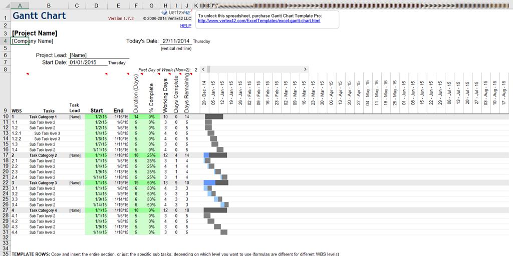 Timeline Template  Gantt Chart Template  Process Street