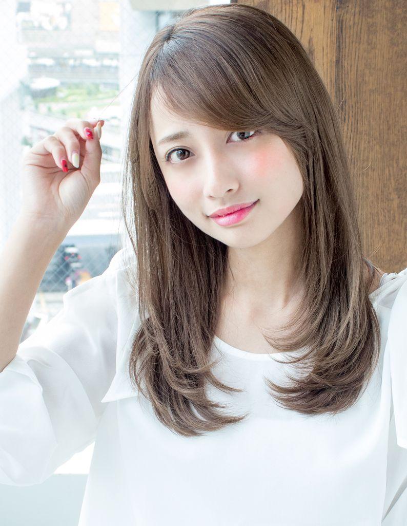大人かわいい小顔ロング As 143 ヘアカタログ 髪型 ヘアスタイル