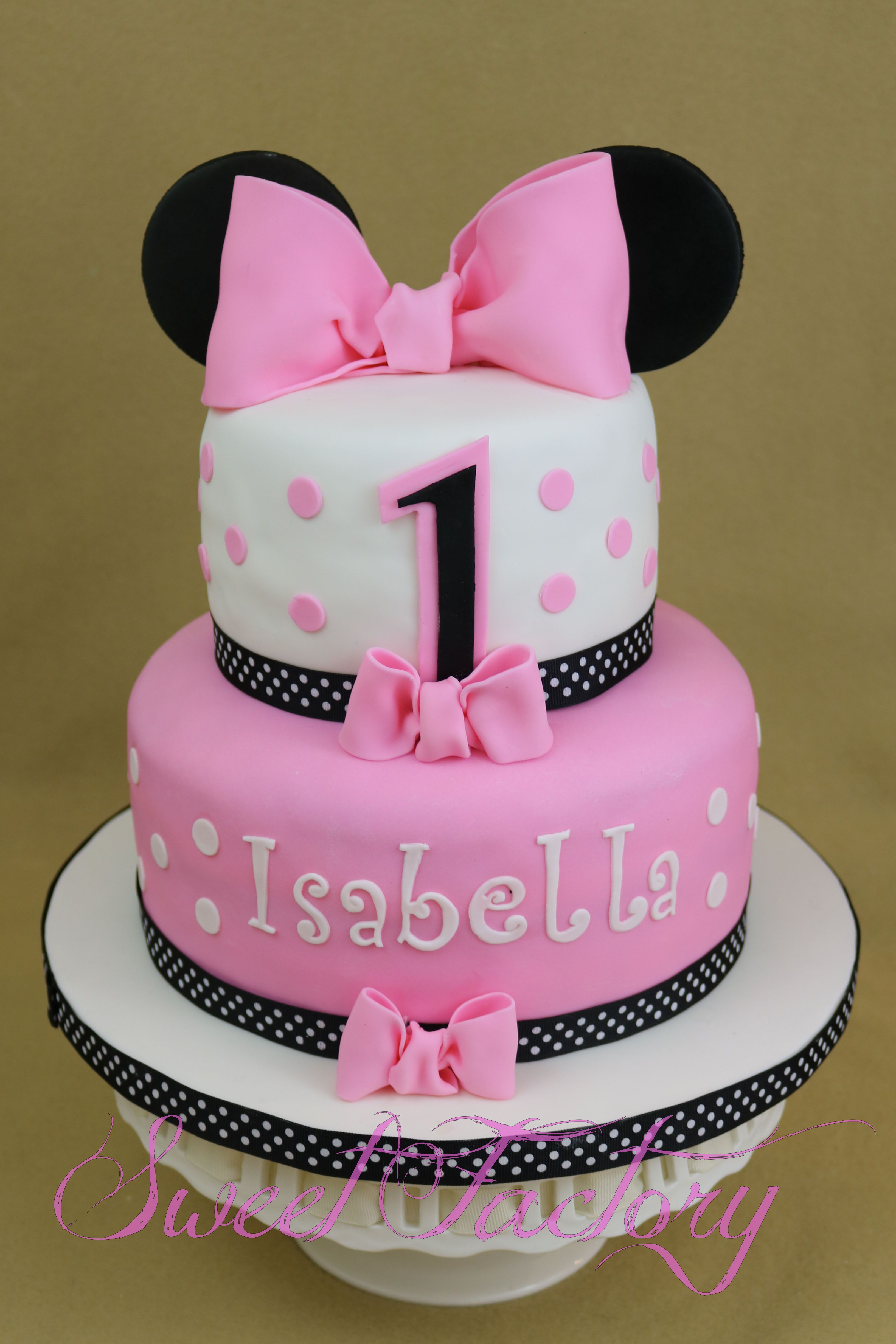 Minnie Mousse 1st Birthday Cake First Year Cake Minnie Mousse