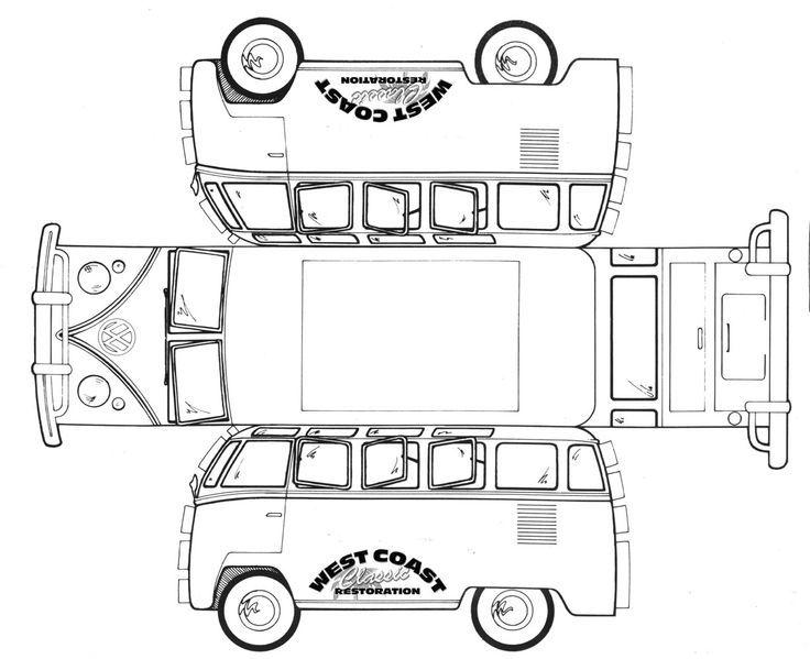 vw t2 card template vw t2 pinterest bastelbogen nicht genug und vw busse. Black Bedroom Furniture Sets. Home Design Ideas
