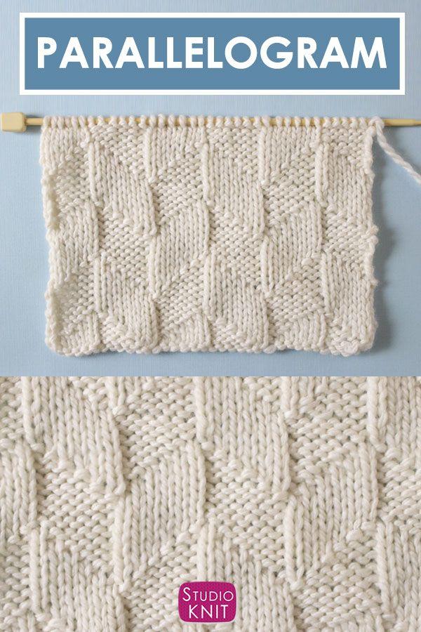 Parallelogram Stitch Knitting Pattern | Studio Knit