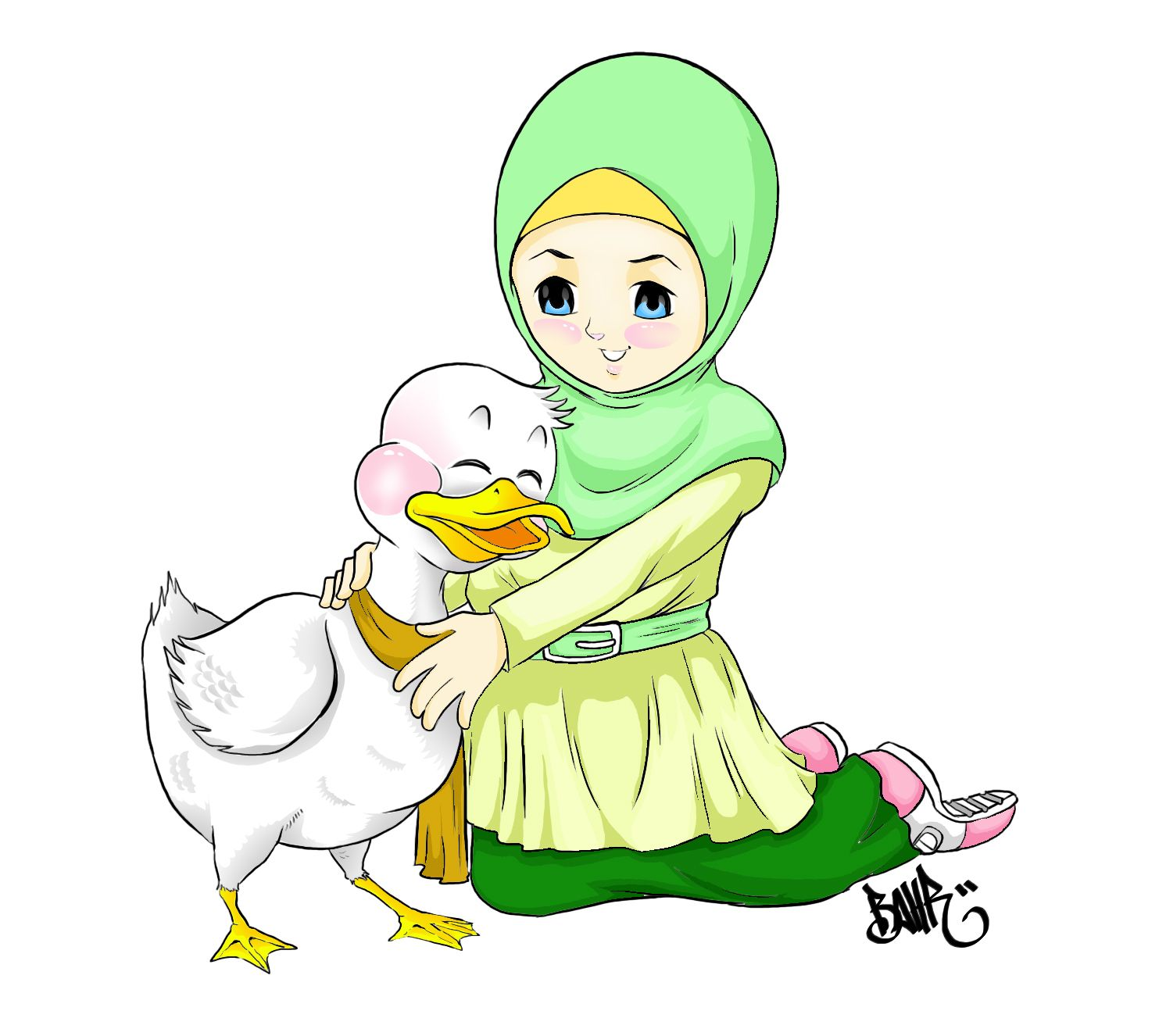 #Smol and Duck#  I Love this pict. Thanks for my friend who make it for me although I never meet you.