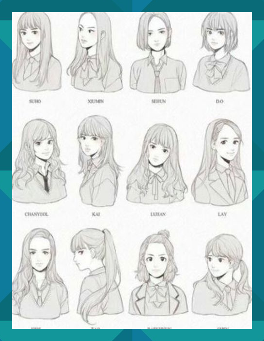 Hair Drawing Reference Hairstyles Anime Girls 21 Ideas Hair Drawing Hairstyles How To Draw Hair Hair Reference Anime Hair