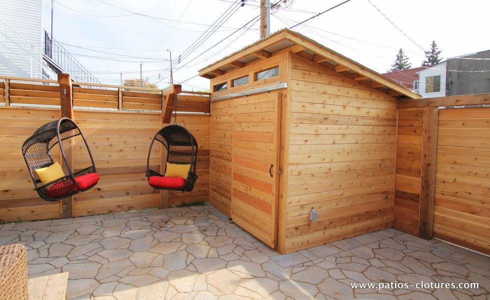 Cabanon avec porte coulissante patio brouillette 1 cour pinterest - Porte coulissante galandage exterieure ...
