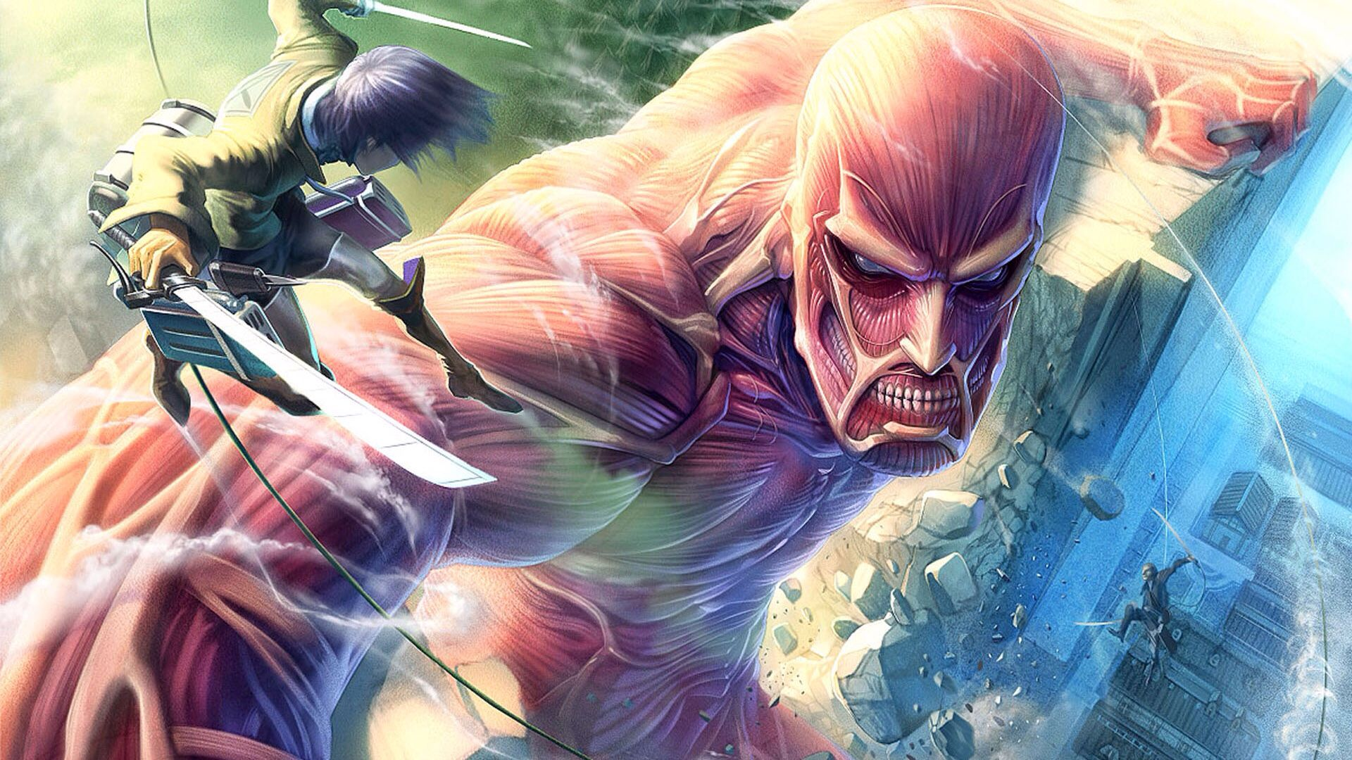 Epic Battle Of Eren Vs The Colossal Titan Attack On Titan Game Attack On Titan Anime Attack On Titan Eren