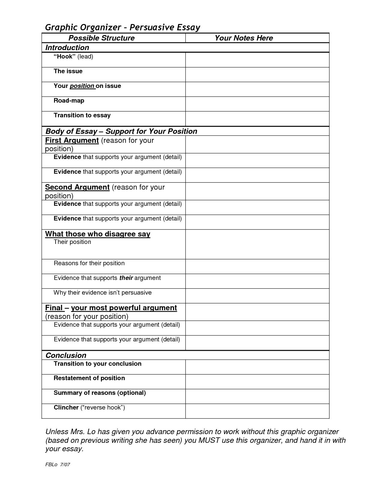 graphic organizers college essay graphic organizer persuasive search