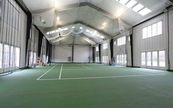Time To Play Tennis Badminton Court Tennis Court Backyard Indoor Tennis