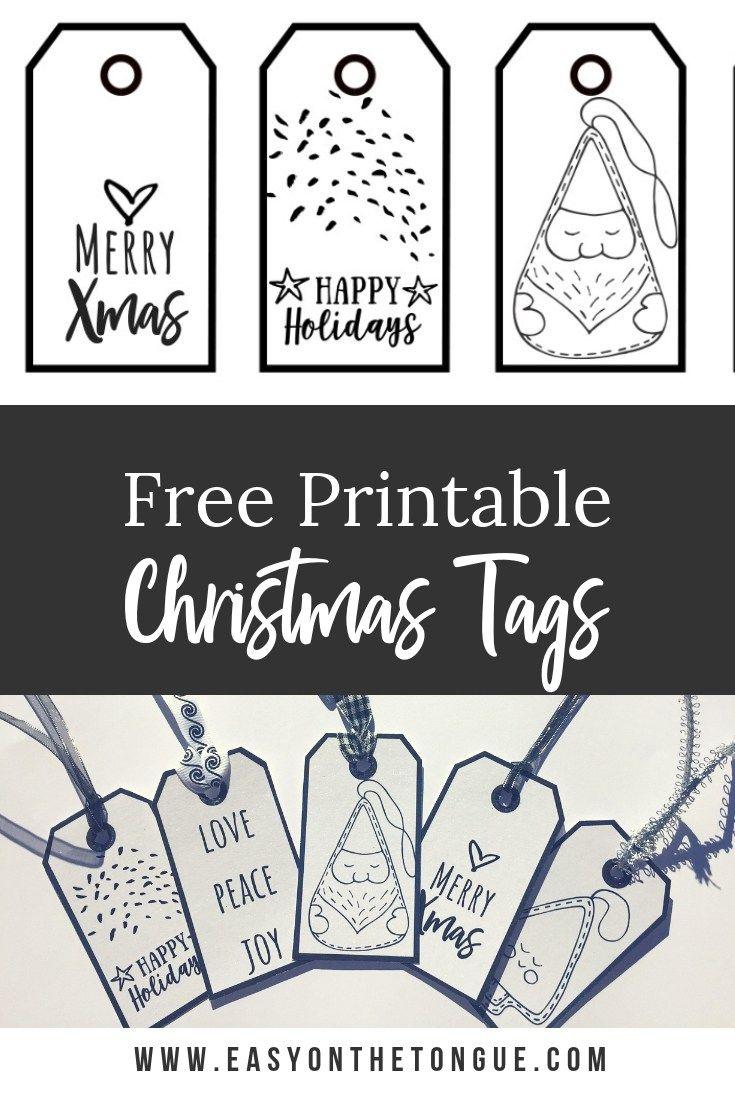 Free Black White Christmas Gift Tags Christmas Gift Tags Printable Christmas Tags Printable Free Christmas Tags Printable