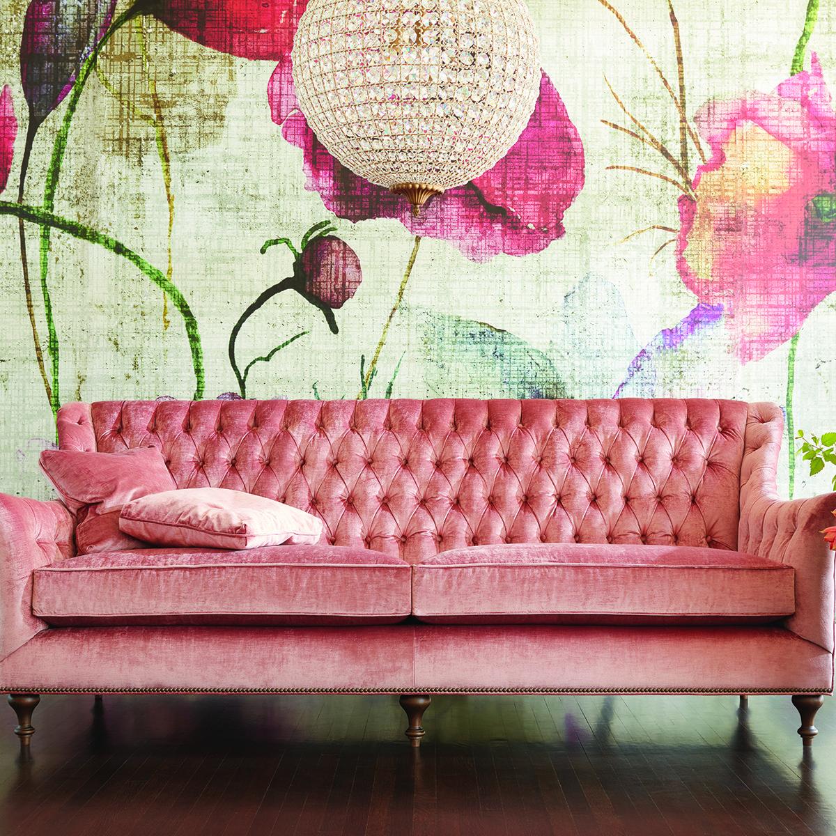 Innenarchitektur wohnzimmerfarbe our fiona sofa is pretty in pink  vintage alles in rosa in