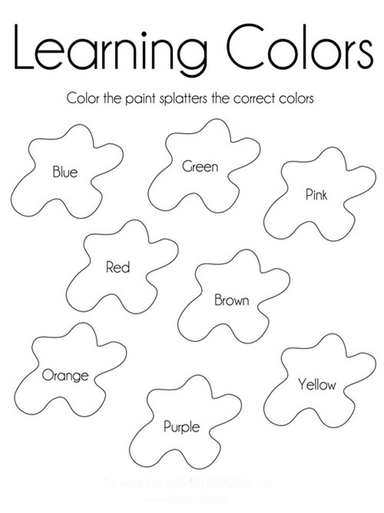 Learning-colors-coloring-pages-learning-colors-coloring-pages -download-and-print-learning-… Free Kindergarten Printables, Learning  Colors, Welcome To Kindergarten