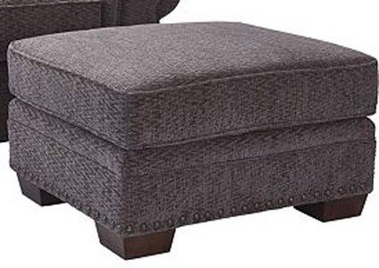 Admirable Broyhill Cambridge Walnut Chenille Fabric Ottoman 5054 Pabps2019 Chair Design Images Pabps2019Com