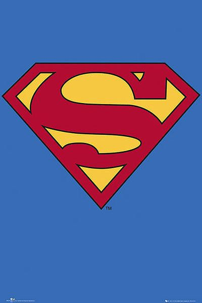 Poster Logo Superman Clasico Logo Superman Como Dibujar A Superman Superman Dibujo