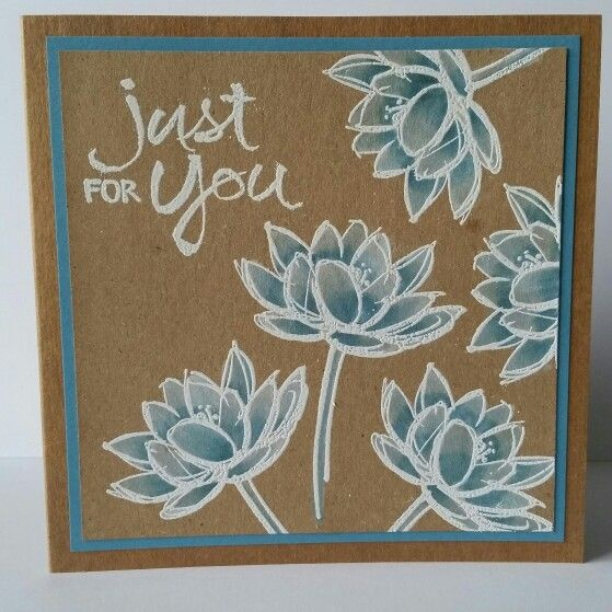 Stampin up Remarkable you stamps on kraft card. Coloured ...