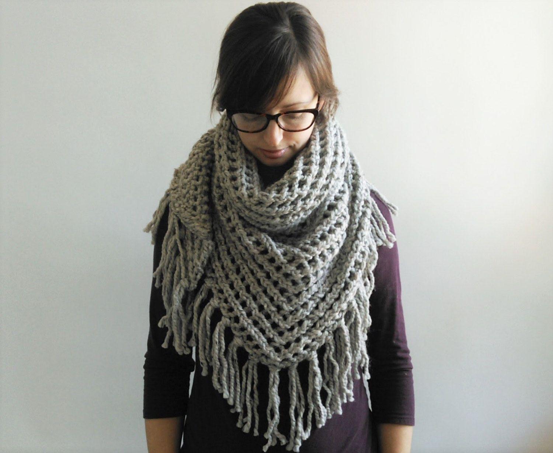 Triangle Scarf Knitting Pattern // Lace Triangle Shawl Pattern ...
