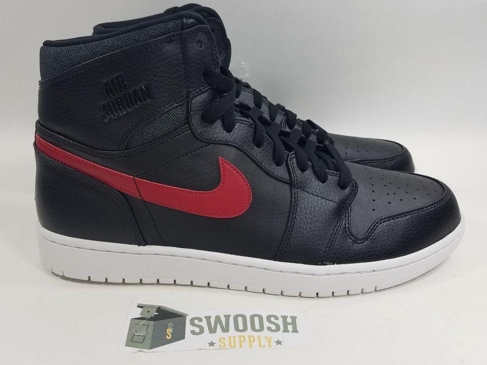 1e2469e163b AIR JORDAN 1 RETRO HIGH 332550-012 RARE AIR PATCH BRED BLACK GYM RED SIZE:  13 #NIKE #BasketballShoes