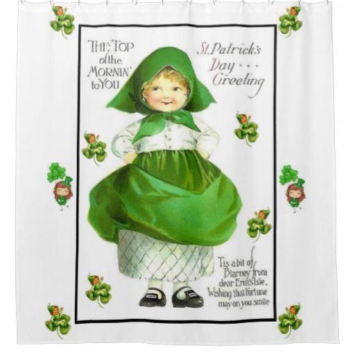 Saint Patrick S Day Shower Curtain Zazzle Com St Patricks Day
