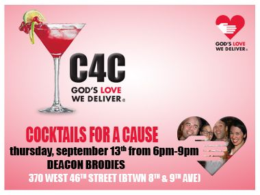 We hope you join us, September 13, for C4C: Cocktails for a Cause!    https://www.glwd.org/events/other.jsp#11047
