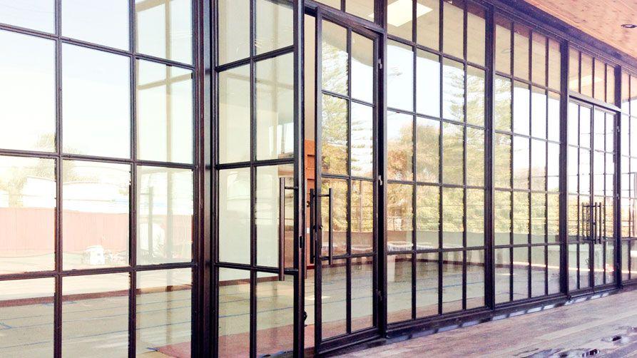 industrial glass door google search steel framed