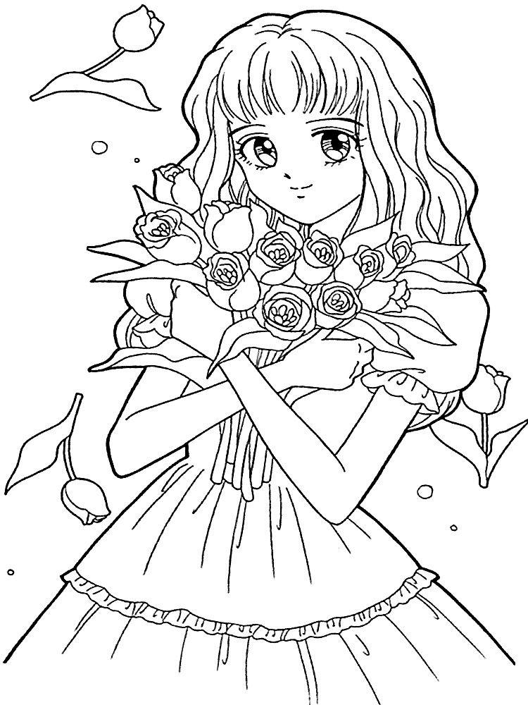 Детские раскраски с аниме | Книжка-раскраска, Принцесса ...