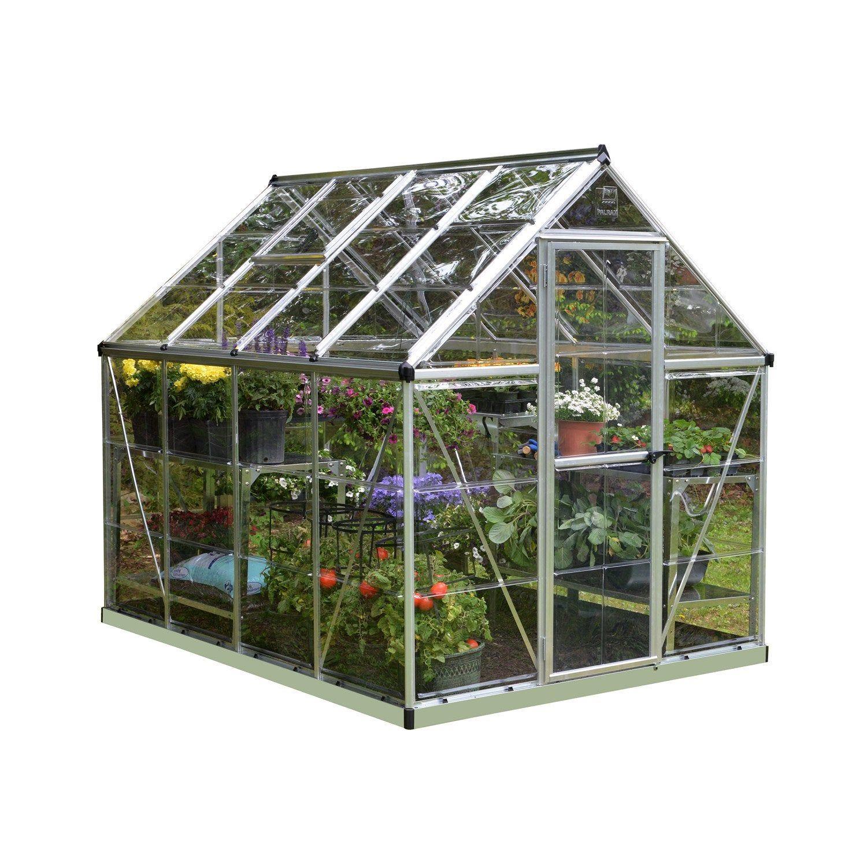 Serre De Jardin Argent Harmony 4 5 M Aluminium Et Polycarbonate Palram Serre Jardin Polycarbonate Et Jardins