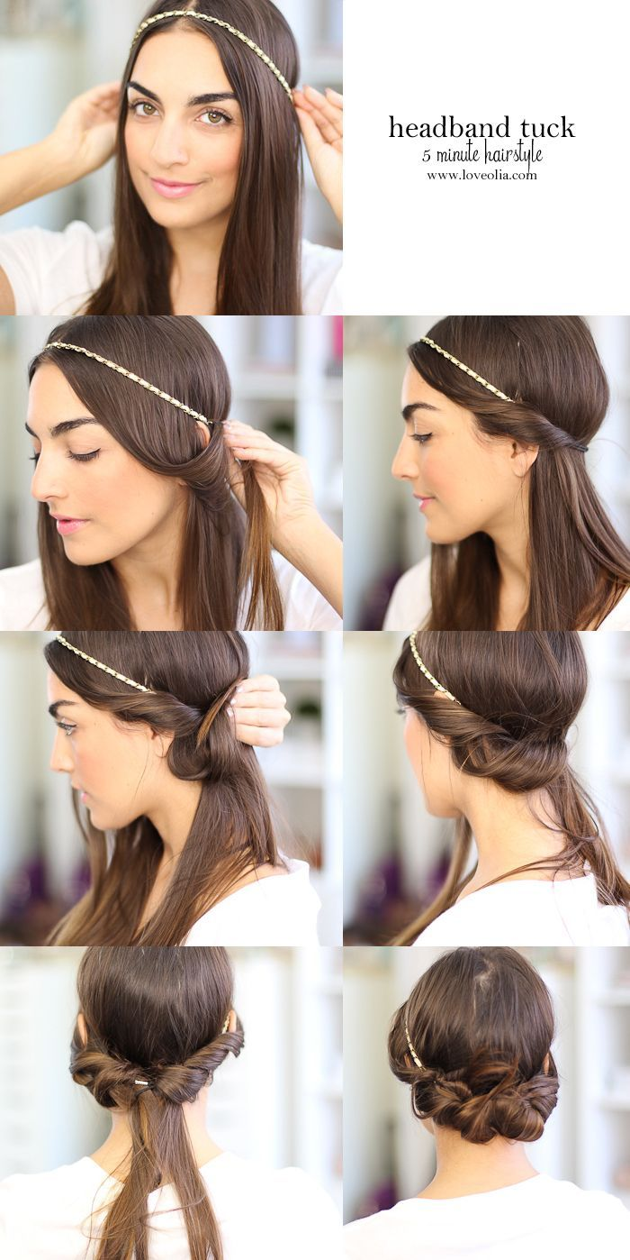 Quick Hairstyles for Long Hair – Glam Radar  Headband hairstyles