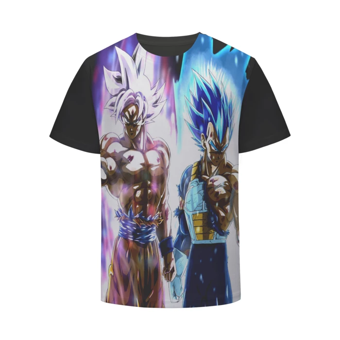 Dragon Ball Z White Hair Goku Ultra Instinct Vegeta T Shirt Tshirt Goku Dbzclothes Dragon Ball Vegeta T Shirt Dragon Ball Z