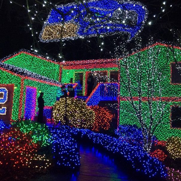 Gaze upon the brilliant electric glow of these outdoor holiday ...