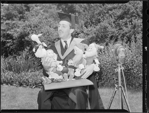 gameraboy:   Walt Disney gets an honorary degree... | Raiders of the Lost Tumblr