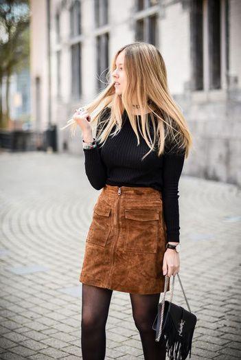 9ac1745c0 Pinterest : 25 façons de porter la mini-jupe cet hiver | S T Y L E ...