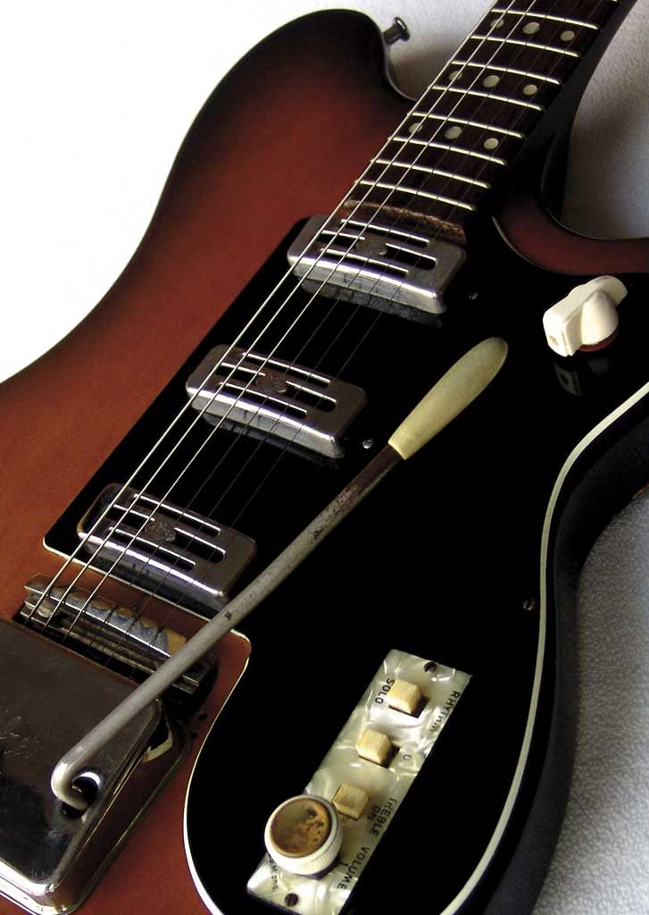 Hofner V-III from 1961. Owned by my friend Steve Russell since new. A cool guitar.