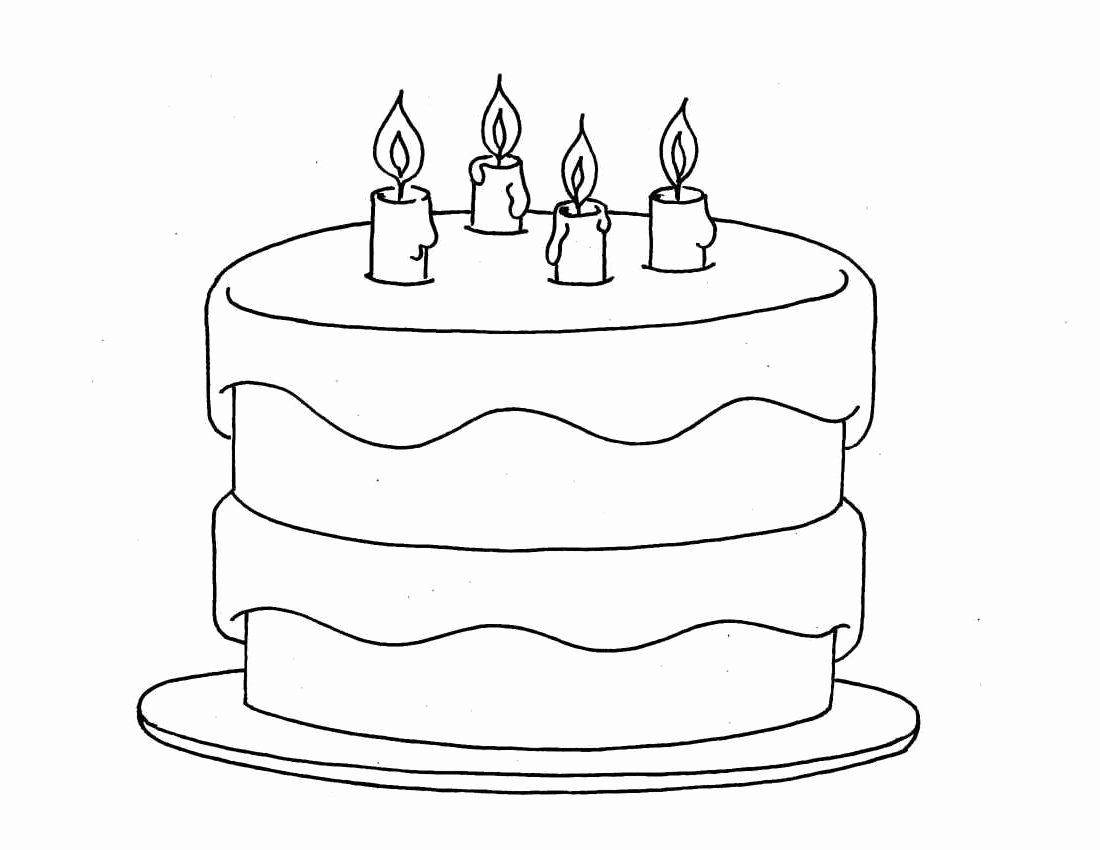 Cake Coloring Images
