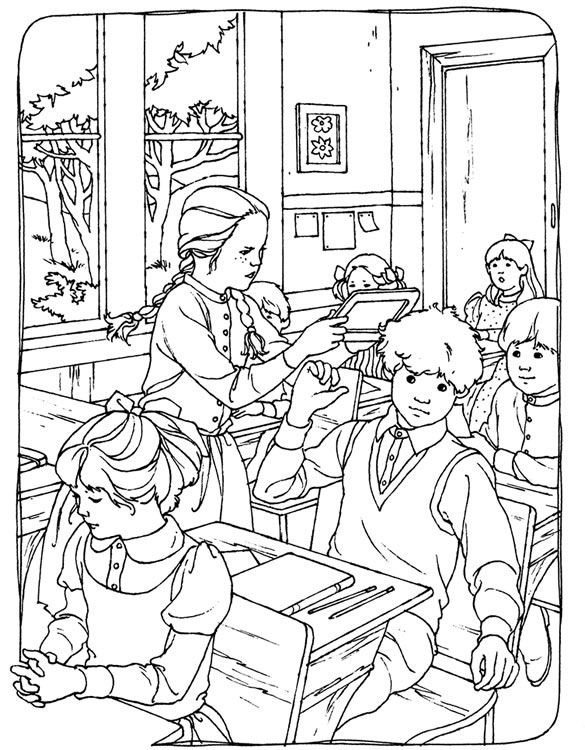 a crowes gathering free kids coloring page anna of green gables - Free Kids Coloring Sheets