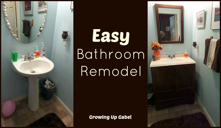 Easy Bathroom Remodel With Moen Boardwalk Faucet Easy Bathrooms - Easy bathroom remodel
