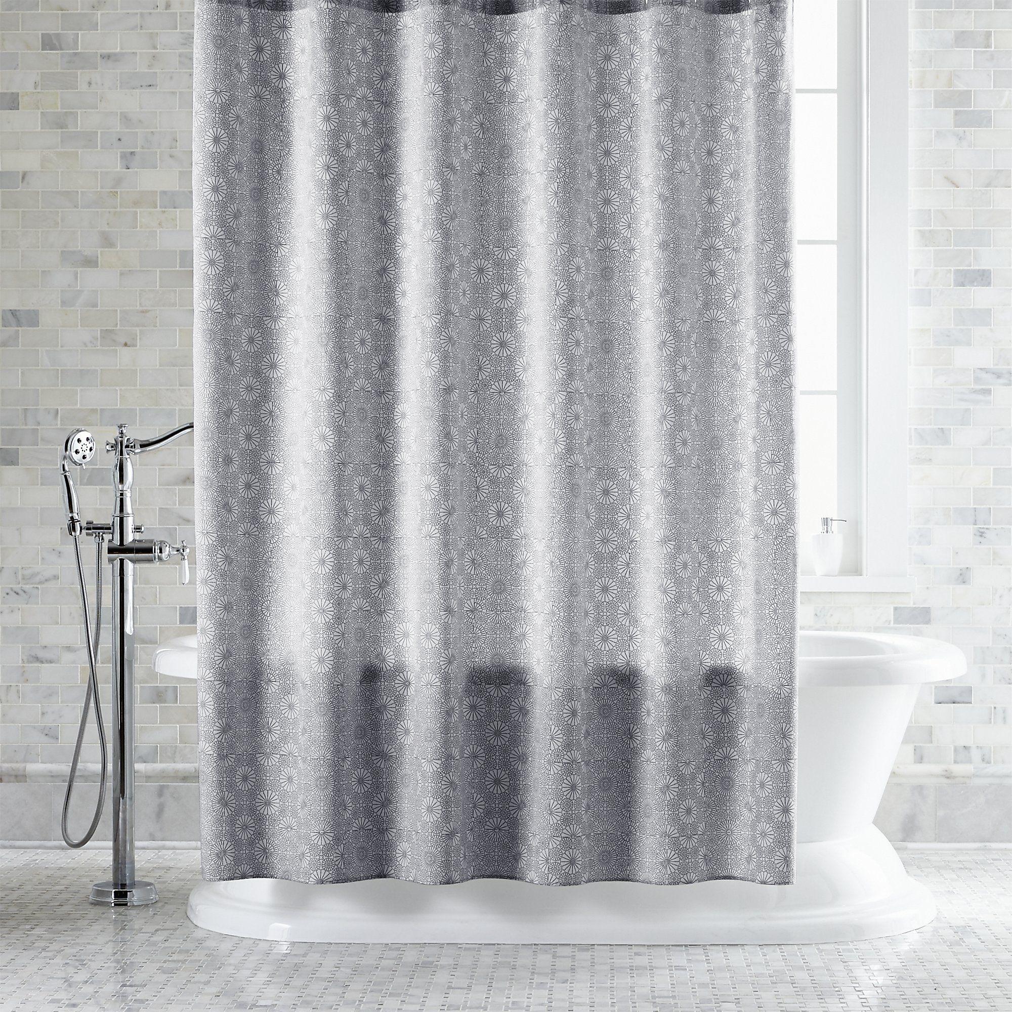 Marimekko Kioto Light Grey Shower Curtain Crate And Barrel Blue Shower Curtains Gray Shower Curtains Shower Curtain