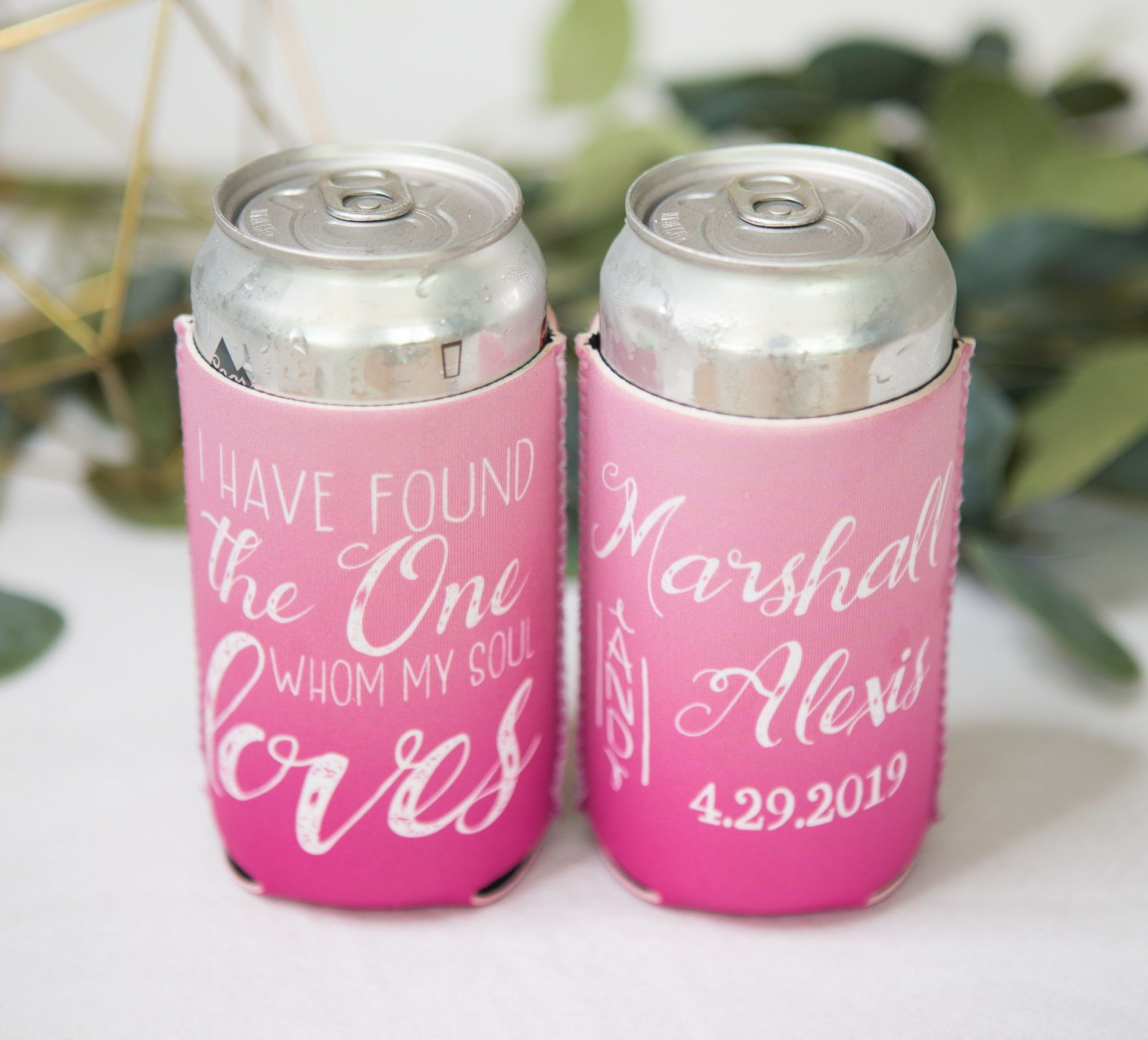 Wedding Favor Ideas Personalized Ombre Drink Koozies - Handmade Wedding