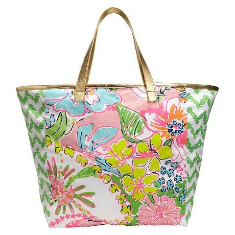 Lilly Pulitzer for Target Canvas Shopping Tote (or diaper bag ...