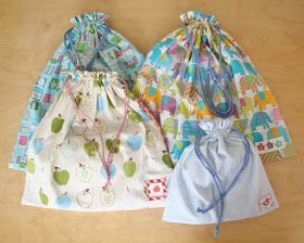 chick chick sewing: Drawstring bags with hand carved eraser stamp labels  きんちゃく袋にけしごむはんこタグ #eraserstamp chick chick sewing: Drawstring bags with hand carved eraser stamp labels  きんちゃく袋にけしごむはんこタグ #eraserstamp