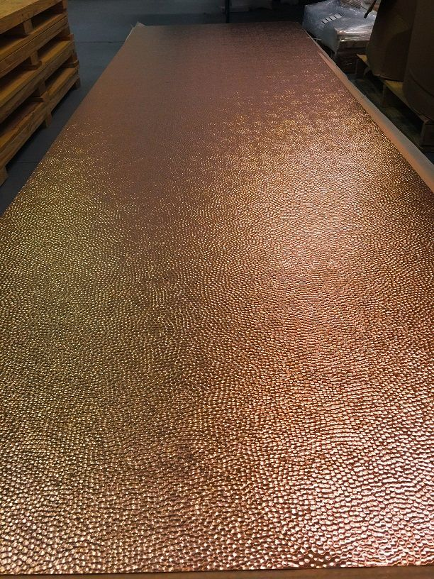 Hammered Copper Sheet New York 3 X 10 One Sheet In 2020 Copper Sheets Hammered Copper Metal Countertops