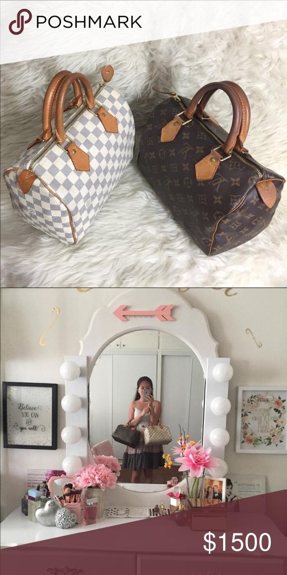 e07b66297299 Spotted while shopping on Poshmark  🌸OFFERS 🌸💯%Authentic LV Speedy 25  Azur   Mono!  poshmark  fashion  shopping  style  Louis Vuitton  Handbags