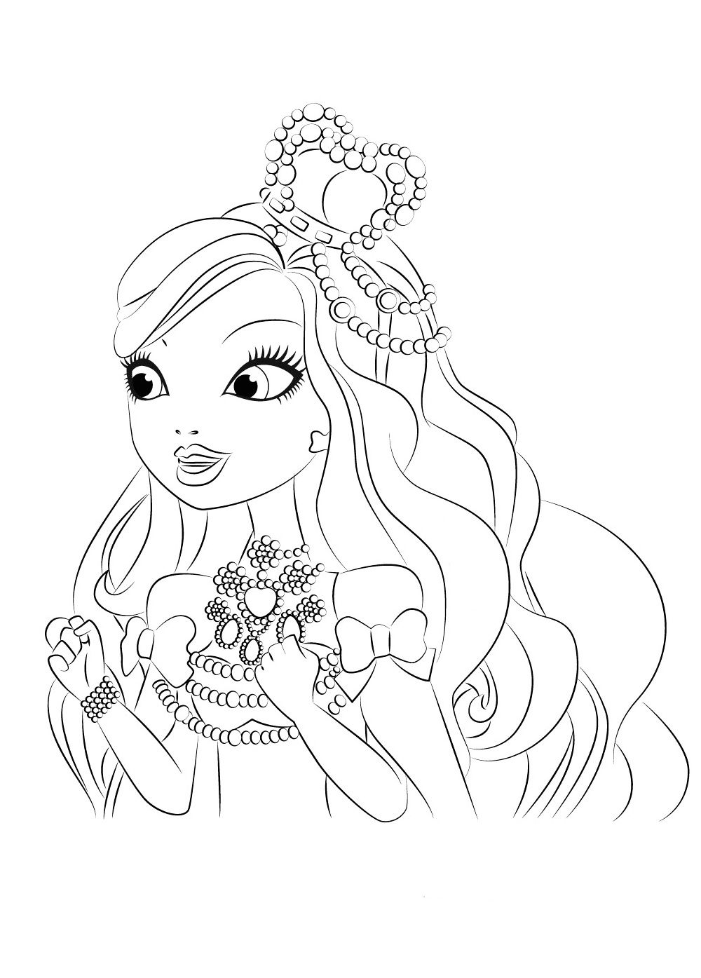 Apple white - daughter of Snow white, coloring pages for kids, print ...