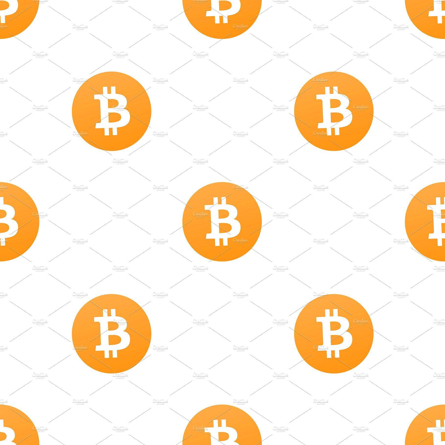 Bitcoin Logo Seamless Pattern Bitcoin logo, Seamless