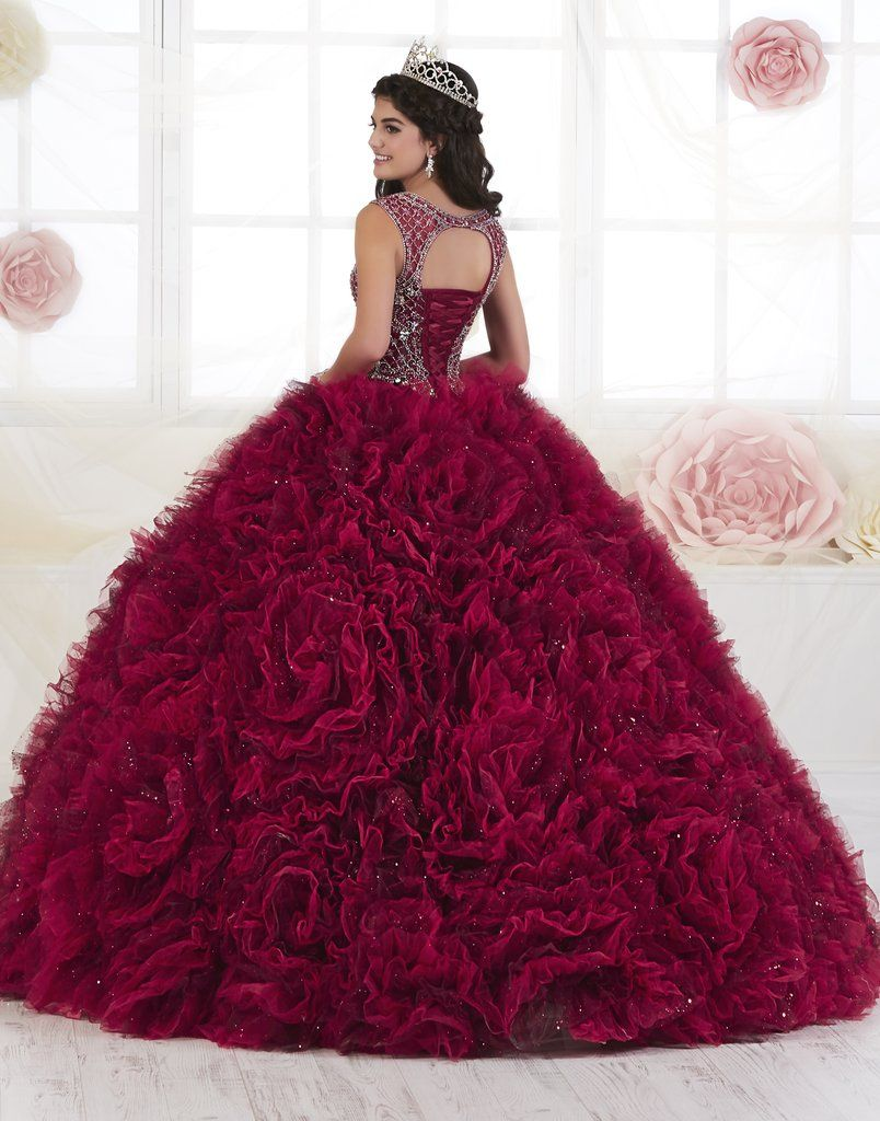 Ruffled 2 Piece Quinceanera Dress by House of Wu 2
