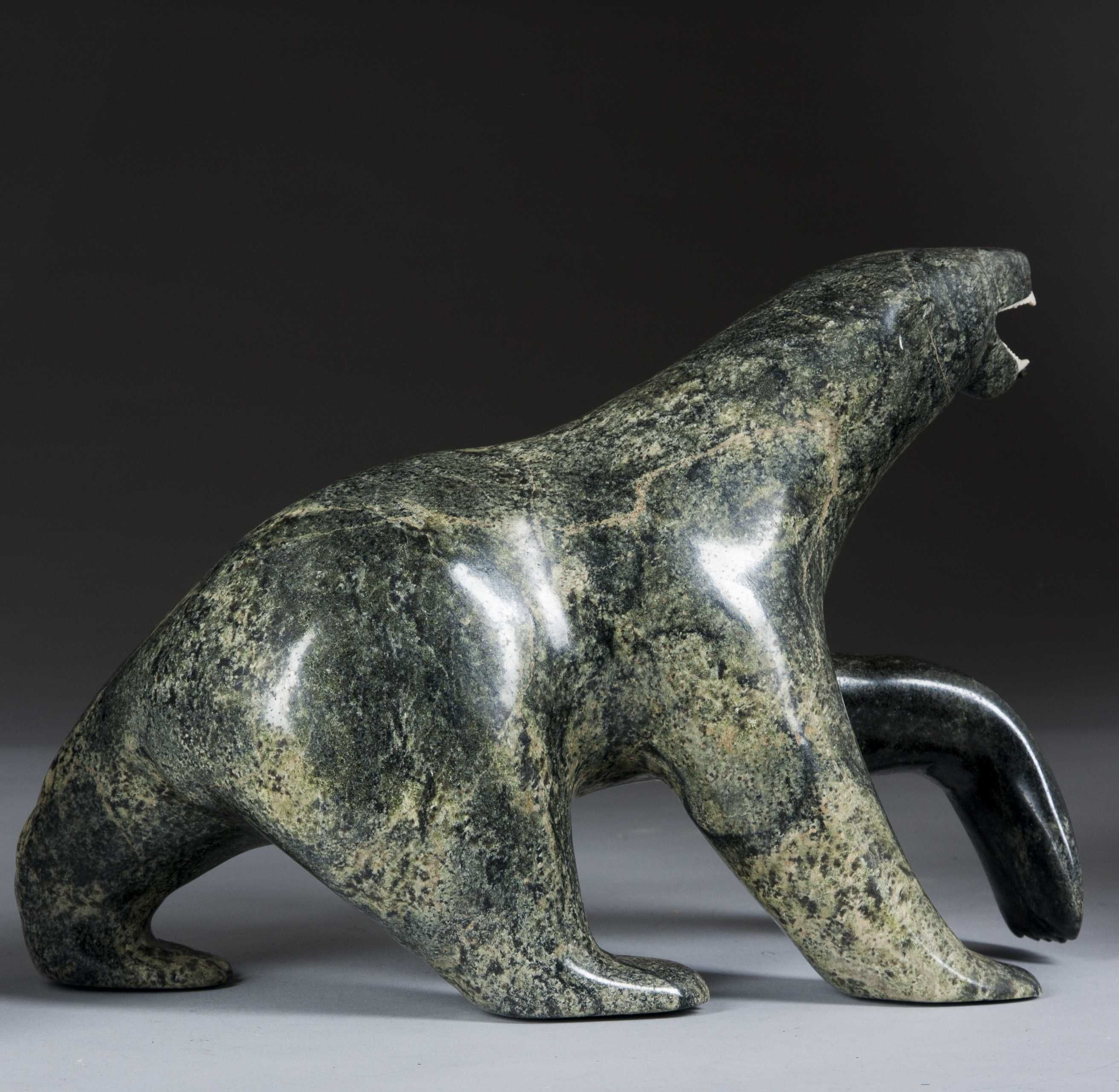 Inuit soapstone carved polar bear inuit soapstone carvings