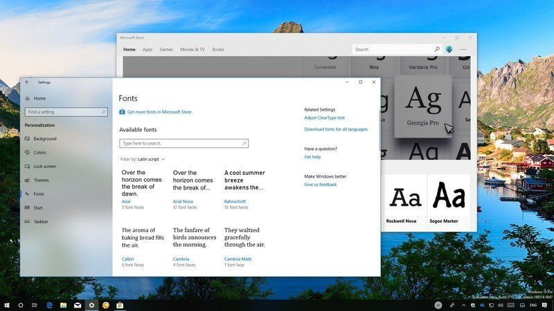 How to manage Fonts settings on the Windows 10 April 2018 Update | Windows Central